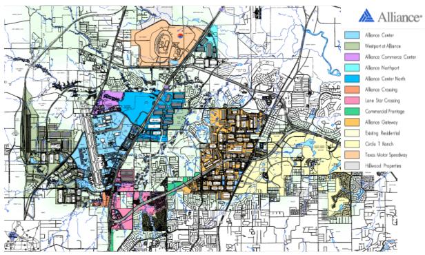 نقشه شهر لجستيك الاينس تگزاس